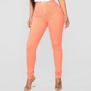 Super High Waist Color Skinnies